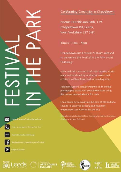 festival in the park flyer
