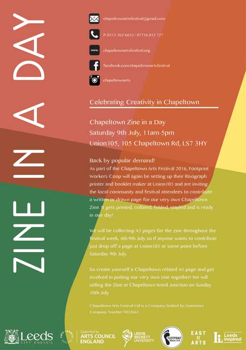 zine in-a day flyer